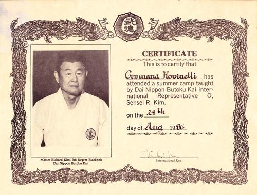 Germana - Karate Certificate
